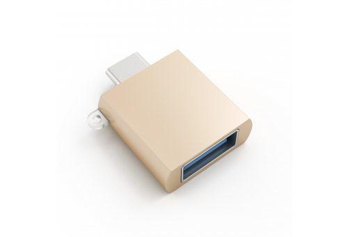 USB адаптер Satechi Type-C USB Adapter USB-C to USB 3.0. Цвет золотой.