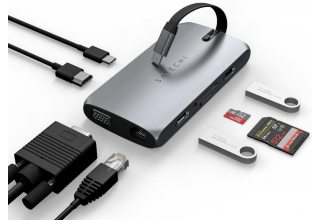 USB-C адаптер Satechi Type-C On-the-Go Multiport Adapter. Цвет Серый Космос