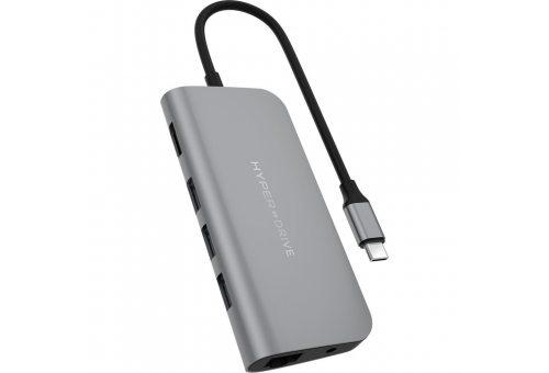 USB Хаб HyperDrive POWER 9 in 1 Hub для USB-C iPad/MacBook Pro/MacBook Air USB-C. Цвет серый.