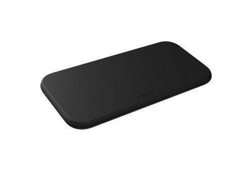 Беспроводное зарядное устройство ZENS Dual Fast Wireless Charger 2 x 10W Slim. Цвет: черный.