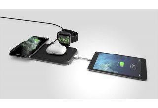 Беспроводное зарядное устройство ZENS Aluminium 4 in 1 Wireless Charger (Apple Watch). Цвет: черный.