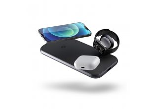 ZENS Aluminium 4 in 1 Stand Wireless Charger with 45W USB PD. Цвет: черный.