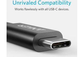 Кабель Anker USB C Thunderbolt 3 to USB C thunderbolt 3, 100 ватт мощности, 40 гбс. 5К