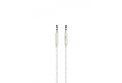 Кабель BELKIN Аудио кабель Belkin PREMIUM, Jack 3.5мм, 1.2м, белый