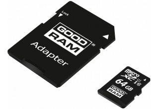 Карта флэш памяти 64GB GOODRAM M1AA-0640R12; microSD Class 10 UHS I + adapter