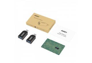 Переходник AUKEY USB C Adapter, Type C to USB 3.0 Adapter (2-Pack)