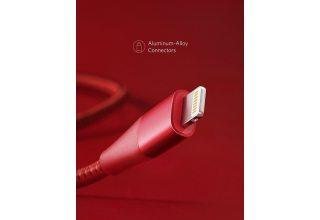 Кабель PowerLine+ II Lightning Cable 0.9 м красный