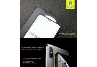 Стекло BLUEO 3D Curved Hot Bending HD (классик) для iPhone 11 Pro/X/XS, 0.33mm Black