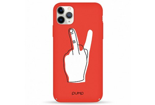 Чехол Pump Tender Touch Case for iPhone 11 Pro Max V for Middle Finger