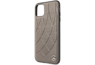 Чехол Mercedes для iPhone 11 Pro Max Bow Quilted/perforated Hard Leather Brown
