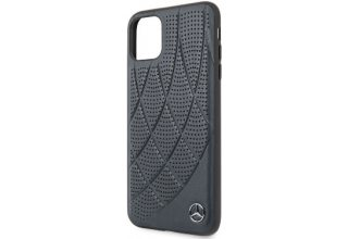 Чехол Mercedes для iPhone 11 Pro Max Bow Quilted/perforated Hard Leather Blue