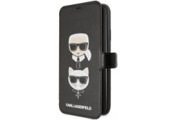 Чехол Lagerfeld для iPhone 11 Pro Max PU Leather Karl and Choupette Booktype stand Black