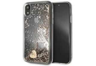 Чехол Guess для iPhone XR Glitter Hard Gold