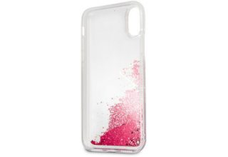 Чехол Guess для iPhone XS Max Glitter Hard Raspberry