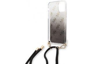 Чехол Guess для iPhone 11 Pro 4G Cord collection Hard PC/TPU Gradient Black