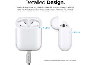 Чехол Elago для AirPods wireless Silicone case White