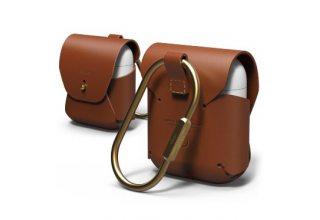 Чехол Elago для AirPods Genuine leather case Brown