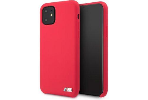 Чехол BMW для iPhone 11 M-Collection Liquid silicone Hard Red