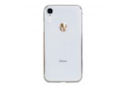 Чехол Bling My Thing для iPhone XS Max, Коллекция Stripe. Jet. Цвет прозрачный.