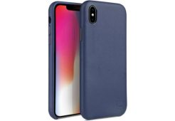 Чехол Uniq для iPhone XS Max Duffle Vale Genuine leather Navy blue
