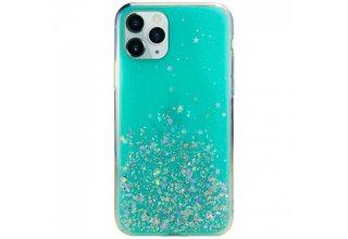 Чехол SwitchEasy Starfield  для iPhone 11 Pro. Материал пластик, полиуретан. Цвет прозрачный мятный.