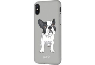 Чехол Pump Tender Touch Case for iPhone XS Max Bulldog on Gray