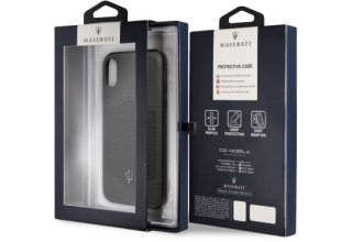 Чехол Maserati для iPhone X/XS Granlusso tradition Hard Leather Dark grey