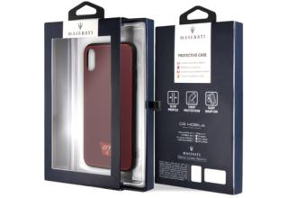 Чехол Maserati для iPhone X/XS Gransport Acrylic Hard Glossy red