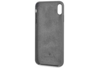 Чехол Maserati для iPhone XS Max Silicone case Hard Grey