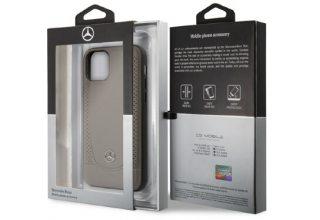 Чехол Mercedes для iPhone 11 Pro Max Urban Smooth/perforated Hard Leather Brown