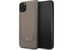 Чехол Mercedes для iPhone 11 Pro Max Urban Smooth/perforated Hard Leather Brown