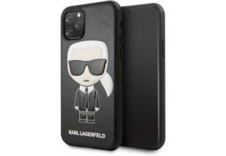 Чехол Lagerfeld для iPhone 11 Pro PU Leather Iconik Karl Hard Black