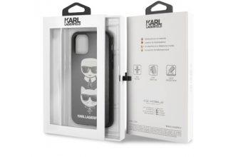 Чехол Lagerfeld для iPhone 11 Pro PU Leather Karl and Choupette Hard Black
