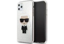Чехол Lagerfeld для iPhone 11 Pro Max TPU collection Karl Iconik Hard Glitter Silver