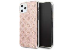 Чехол Guess для iPhone 11 Pro 4G Peony Hard PC/TPU Glitter Pink