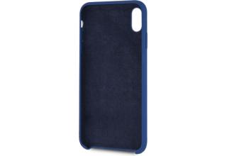 Чехол BMW для iPhone XS Max M-Collection Liquid silicone Hard TPU Navy