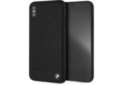 Чехол BMW для iPhone XS Max Signature Perforated Leather Hard Black