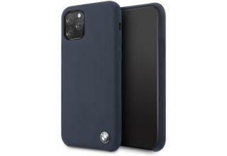 Чехол BMW для iPhone 11 Pro Signature Liquid silicone Hard Navy