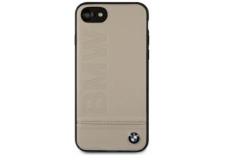 Чехол BMW для iPhone 7/8 Signature Logo imprint Hard Leather Taupe