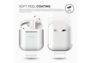 Клип Elago для AirPods Carrying clip Frosted transparent