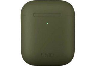 Чехол Uniq для Airpods LINO (2019) Liquid silicone Green