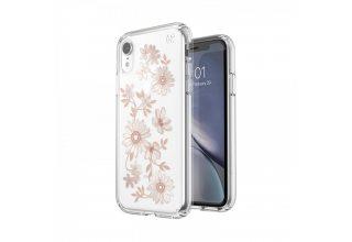 Чехол Presidio Clear + Print для iPhone XS/X.Дизайн Fairytalefloral Peach Gold/Clear.