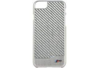 Чехол BMW для iPhone 7 M-Collection Aluminium&Carbon Hard Silver
