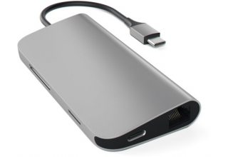 USB адаптер Satechi Aluminum Multi-Port Adapter 4K with Ethernet. Интерфейс USB-C. Порты: USB Type-C