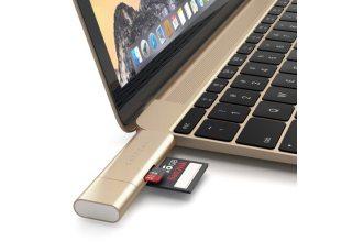Кардридер Satechi Aluminum Type-C USB 3.0 and Micro/SD. Цвет золотой.