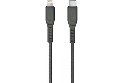 Кабель Uniq Flex strain relief USB-C - Lightning MFI Grey 1.2m