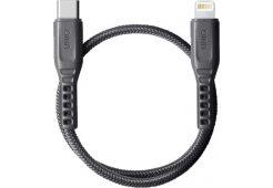 Кабель Uniq Flex strain relief USB-C - Lightning MFI Grey 30cm