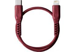 Кабель Uniq Flex strain relief USB-C - Lightning MFI Red 30cm
