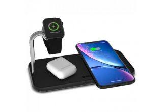 Зарядное устройство беспроводное Zens Dual+Watch Aluminium Wireless Charger, черный