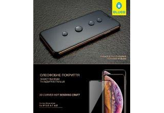Стекло BLUEO 3D Curved Hot Bending HD (классик) для iPhone 11/XR, 0.33mm Black